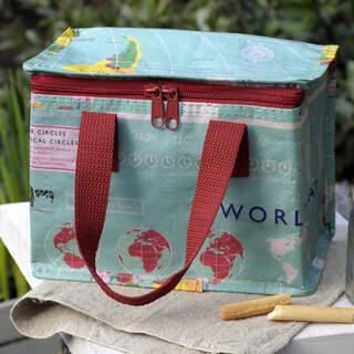 World Map Design Lunch Bag