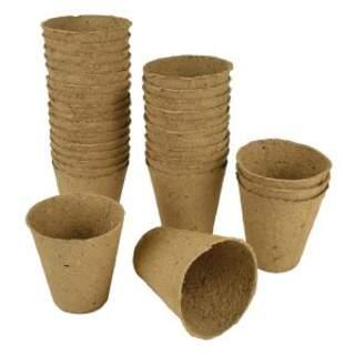 Fibre Pots Round 8cm 48pk