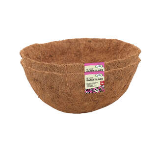 Coco Basket Liners Value Twin Pack 14in