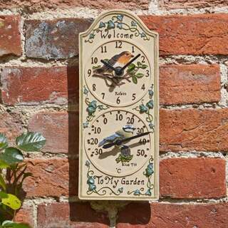 Birdberry Clock & Thermometer