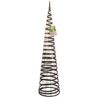 Faux Rattan Obelisk Chestnut 1.5m