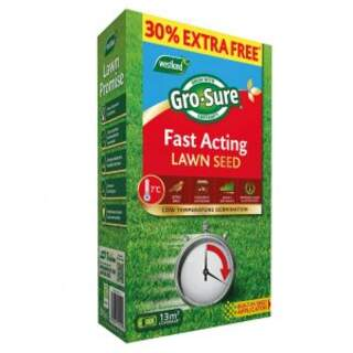 Grosure Fast Acting Lawn Seed 10m2 + 30% Extra Free 13sq.m