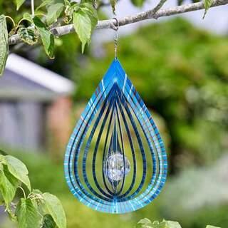 Crystal Teardrop Spinner Azure 20cm