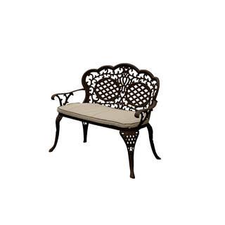 Ballygowan Love Seat (Hammered Bronze/Cream Cushion)