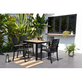 DuraOcean Panama Square Table 4 Seater, Parasol & Base