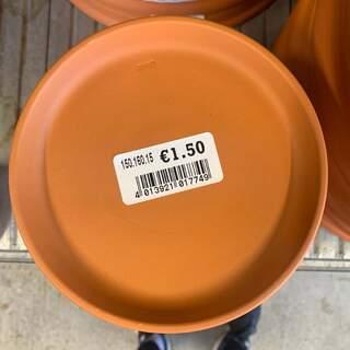 Glazed Saucer 14x2cm