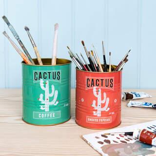 Cactus Storage Tins Set Of 2
