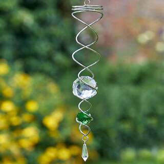 Green Spinning Double Helix 41 cm
