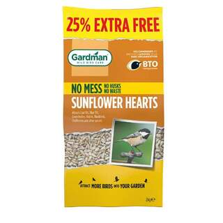 GM Sunflower Hearts 2kg + 25% Extra Free